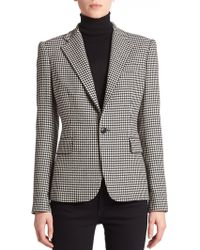Ralph Lauren Black Label Leandra Wool/Cashmere Houndstooth Jacket black - Lyst