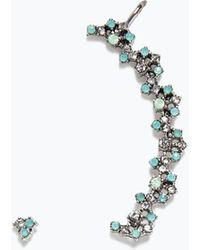 Zara Green Jewelled Earring - Lyst