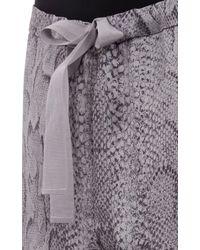 Nina Ricci Python-Print Silk Pajama Pants - Lyst