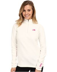 The North Face Pink Ribbon Glacier 14 Zip - Lyst