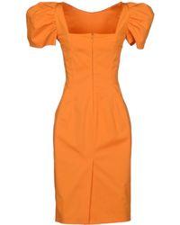 DSquared2 Orange Knee-length Dress - Lyst