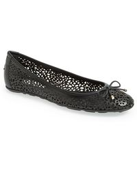 Jimmy Choo Women'S 'Walsh' Perforated Leather Ballerina Flat - Lyst