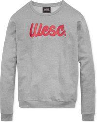Wesc Flow Script Fleece Sweater - Lyst
