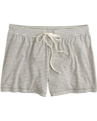 J.Crew Whisper Jersey Short in Stripe - Lyst