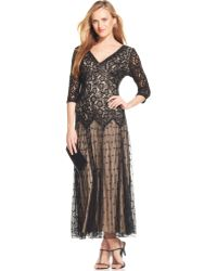 Pisarro Nights Embellished Contrast-lace Gown - Lyst