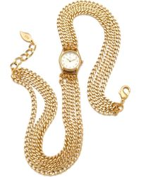 Sara Designs - Small All Chain Watch - Gold - Lyst