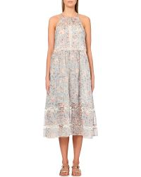 Zimmermann Gemma Folk Floral Silk-Blend Dress - For Women - Lyst