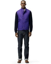 Club Monaco Hacking Vest purple - Lyst