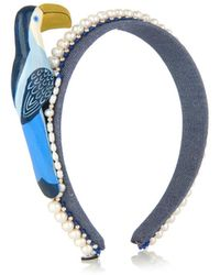 Masterpeace - Toucan And Pearls Denim Headband - Lyst