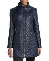 Via Spiga Quilted Puffer Long Coat - Lyst