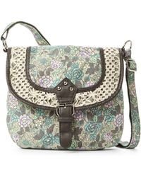 Twig & Arrow - Floral Sienna Crocheted Saddle Bag - Lyst