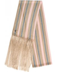 Temperley London Shore Stripe Fringed Dinner Scarf pink - Lyst