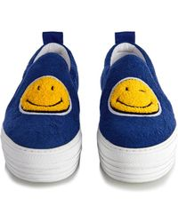 Joshua Sanders - Smiley-Face Terry-Cloth Trainers - Lyst