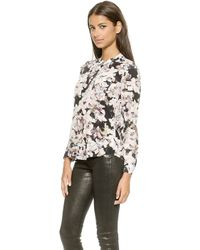 Rebecca Taylor Front Placket Top - Blacksugar - Lyst