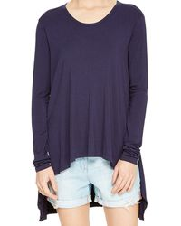 DKNY Pure Drapey Trapeze Tee - Lyst
