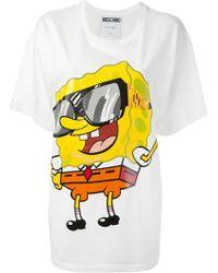Moschino Oversized Sponge Print Tshirt - Lyst