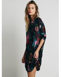 Free People Hannah Printed Knit Dress - Lyst