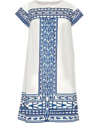 Sea Cut Out Embroidered Cotton Mini Dress - Lyst