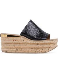 Chloé | Leather Cork Wedges | Lyst