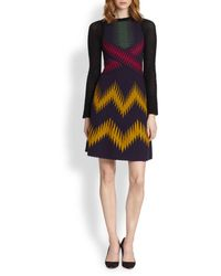 M Missoni Crossfront Mixedknit Dress - Lyst