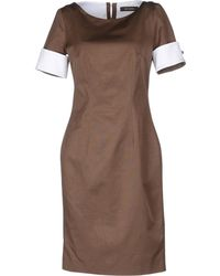 Reggiani Short Dress brown - Lyst