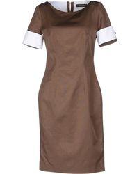 Reggiani Short Dress brown - Lyst