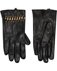 Kurt Geiger Leather & Chain Gloves