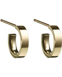 Finn - Gold Huggie Hoop Earrings - Lyst