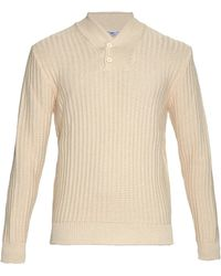 Inis Meáin Shawl-Neck Cotton Sweater - Lyst