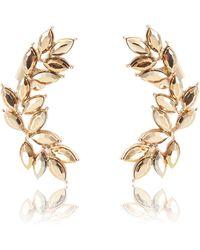 River Island Gold Tone Leaf Statement Ear Cuffs gold - Lyst