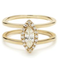 Anna Sheffield Attelage Marquise Diamond Ring gold - Lyst