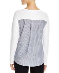 Clu Too - Long Sleeve Contrast Back Top - Lyst