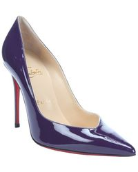 Christian Louboutin Violet Patent Leather Completa 100 Pointed Toe Stiletto Pumps - Lyst