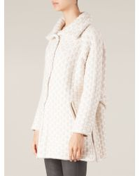 Maison Ullens - Checkerboard Pattern Knitted Coat - Lyst