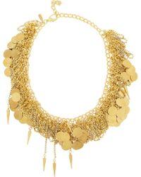 Vickisarge - After The Goldrush Gold-Plated Swarovski Crystal Necklace - Lyst