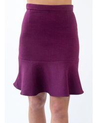 Carven | Flute Skirt Wine | Lyst