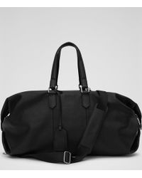 Reiss - Hines Leather Weekend Holdall - Lyst