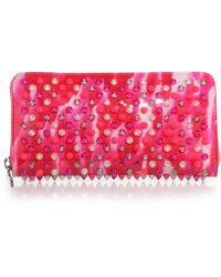 Christian Louboutin | Panettone Glitter Spiked Zip-around Wallet | Lyst
