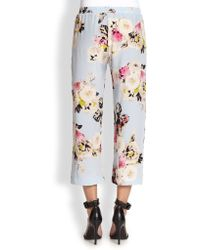 Pjk Patterson J. Kincaid - Kelly Silk Cropped Floral print Trousers - Lyst