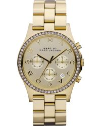 Marc By Marc Jacobs Women'S Chronograph Henry Gold Ion-Plated Stainless Steel Bracelet Watch 40Mm Mbm3105 - Lyst