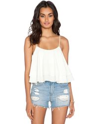 Free People Tropical Wave Crop Top white - Lyst