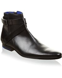 Ted Baker Baaton Leather Banded Jodphur Boots - Lyst