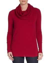 Elie Tahari Cashmere Ribbed-Cowlneck Sweater - Lyst