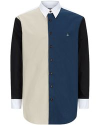 Vivienne Westwood Colour Block Cotton Shirt - Lyst