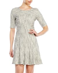 10 Crosby Derek Lam Jacquard Half Sleeve Dress - Lyst