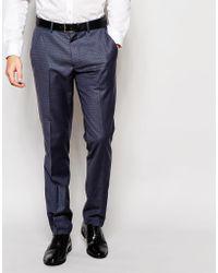 Vito - Super Skinny Check Pants - Lyst