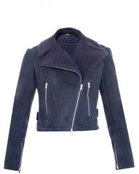 Alaïa - Shearling Zip-Detail Jacket - Lyst