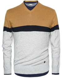 Mango Color Block Cotton Sweater - Lyst
