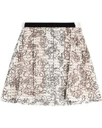 Julien David Printed Cotton Skirt With Embellishment - Lyst