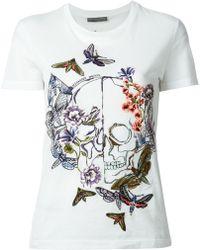 Alexander McQueen Moth Embroidery T-shirt - Lyst